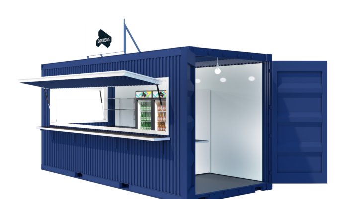 Street Food Container Visualization Side Door