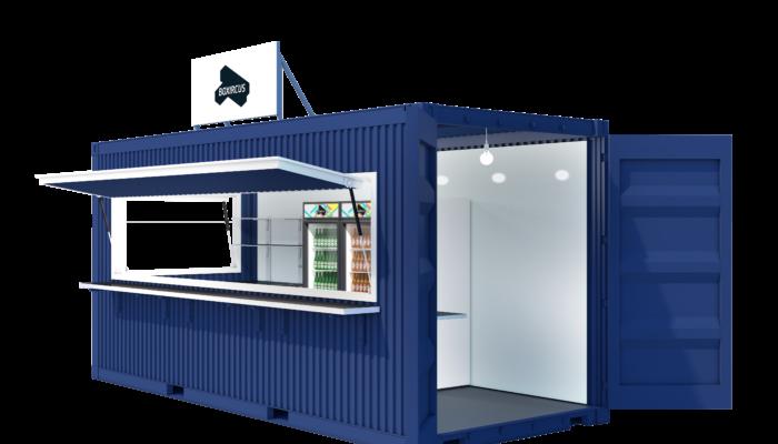 Street Food Container Visualization Side Door