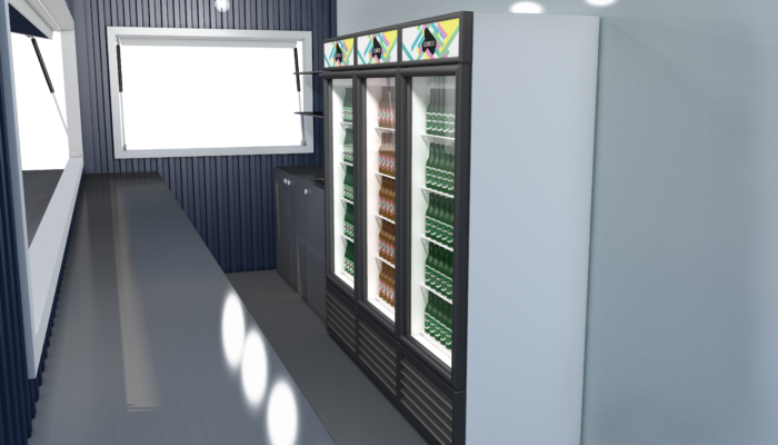 Street food container visualization (interieur)